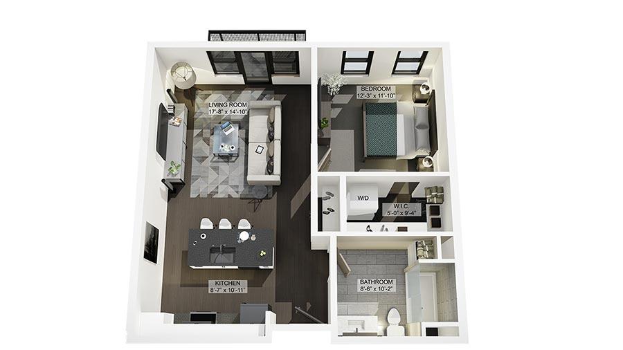 1A 3D Floor Plan Rendering