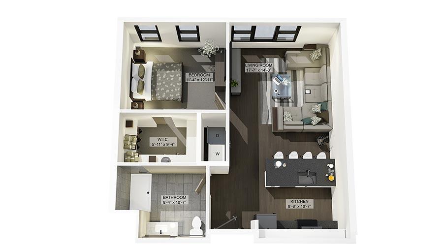 1ADA 3D Floor Plan Rendering