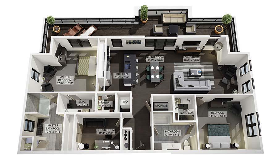 2D 3D Floor Plan Rendering