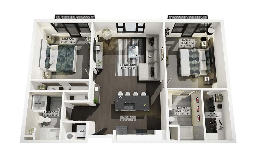 2E 3D Floor Plan Rendering