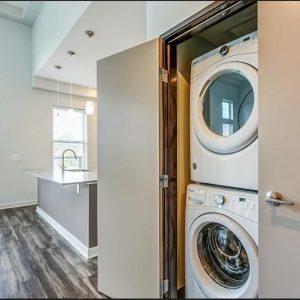 Model unit laundry room